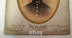 Antique CIVIL War Prisoner Albumen Framed Photograph Mass Vols Salisbury Prison
