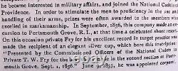 Antique Civil War Rhode Isl 14th Regt Hvy Artillery Colored Gorham Silver Goblet