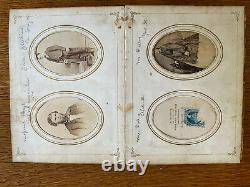 Antique Civil War era Photo Album With 54 CDVs Louisville, Ky- many identified
