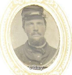 Antique Civil War era gem tintype photo album Confederate soldiers photos