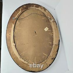 Antique Convex Glass Oval Tiger Frame Photo. Resembles a Civil War Soldier
