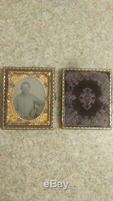 Antique Daguerreotype Tin Type Photograph Civil War