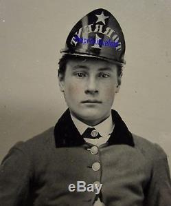 Antique Fireman Torrent 1 St Johnsbury Vt Iconic CIVIL War Era Old Tintype Photo