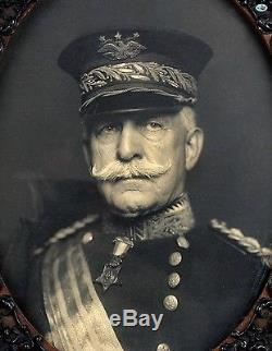 Antique Framed Original Photograph of General Nelson Miles American Civil War