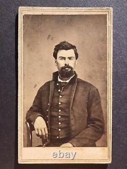 Antique IDd 9th Kansas Calvary Civil War Soldier Lawrence KS CDV Photo