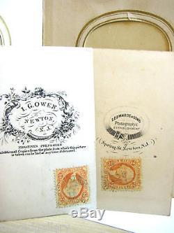 Antique Late 1800s Photo Album in Leather Binder Post Civil War Era New Jersey