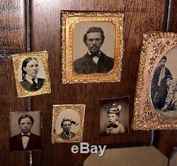 Antique Photo Lot 29 Tintypes 1860s / Civil War Era & Later
