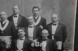 Antique Photograph Of Masons Freemasons-Large Photograph-Knights-#2-Civil War