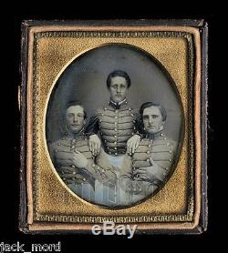 Antique Pre Civil War Dag Photo of VMI Virginia Military Institute Cadets c1850