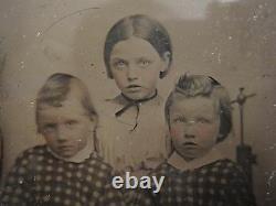 Antique Rare Ambrotype Posing Stand Head Brace Pre CIVIL War American Fine Photo