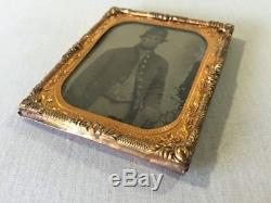 Antique Tintype Military Civil War Confederate Soldier Photo Picture