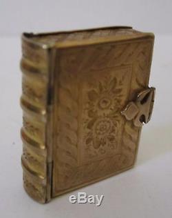 Antique Victorian CIVIL War Era 10k Gold Miniature Travel Photo Frame Locket Wow