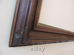 Antique Victorian WALNUT Civil War Era Picture Frame 18 1/4 x 20 5/8 c1860s ART