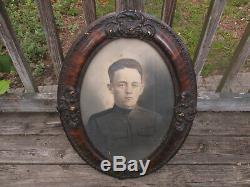 Antique Vintage 1800's Civil War era Magnificent Oval Portrait Picture Frame