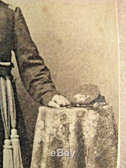 Armed Iowa CIVIL War Identified Officer CDV Photo 2nd Iowa Infantry