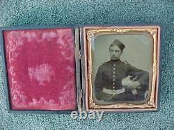 Authentic Civil War Sir Arthur Fremantle Tintype Photo Coldstream Guards Leather