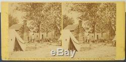 B9524 Alexander Gardner Civil War Stereoview 478 Fair Oaks VA Hospital