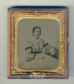 BIG LOT of Hand-Colored Tintype Portrait Photographs from Civil War-Era c. 1860's