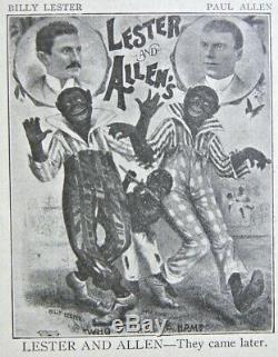 BLACKFACE MINSTREL PHOTO SHOW Civil War Theater ACTOR Slavery Antique Band MUSIC
