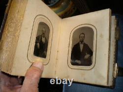 Beautiful- CIVIL War Period- Photographic Cdv-album. With-40-tintype Photos