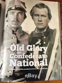 Beautiful Civil War Soldier Half Plate Tintype American Flag