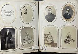 Beautiful Civil War era Photo Album With 98 CDVs Carson City, Virginia Nevada