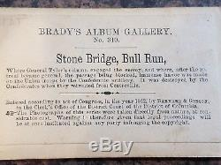 Brady No. 310 Civil War Stone Bridge Bull Run CDV Image