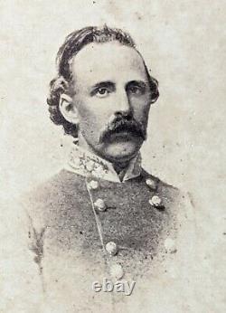 C1863 Original Carte De Visite Confederate General Edward Thomas CIVIL War CDV