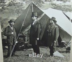 C1900 Abraham Lincoln Antietam Mathew Brady CIVIL War Photo Pinkerton Union Gar