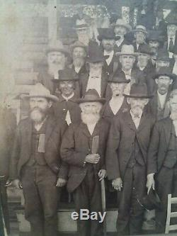 CABINET PHOTO CIVIL WAR Old SOLDIERS Day Confederate Springfield MO Veterans