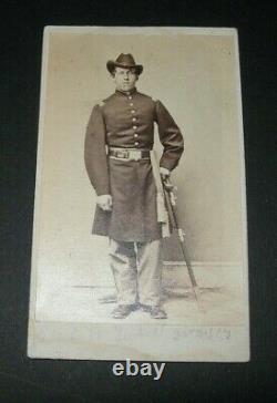 CDV Armed CIVIL WAR Lt. CHARLES H. TARBELL, Co. B, 30th U. S. COLOR TROOP