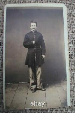 CDV CIVIL WAR SOLDIER Corporal Hallenback 177th regiment New York Infantry