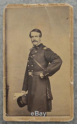 CDV Lt. Colonel William E. Strong on Gen. McPherson Staff Civil War Period
