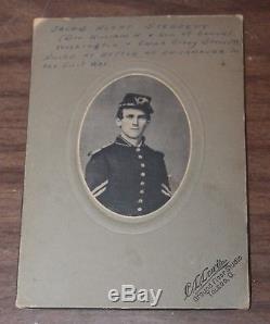 CDV PHOTOGRAPH CIVIL WAR SOLDIER IDENTIFIED Jacob R Sterrett 11th Regiment D OH