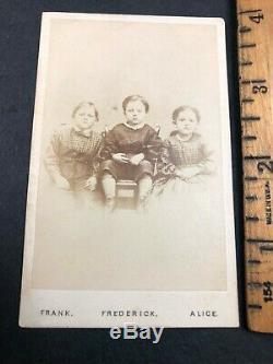 CDV Photo, Civil War Orphans Children of the Battlefield Gettysburg 1867