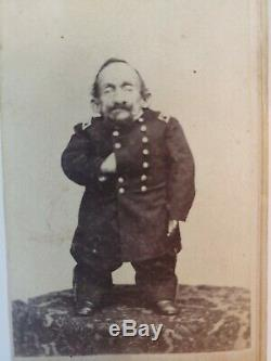 CDV Photo Civil War Soldier Dwarf Little Person