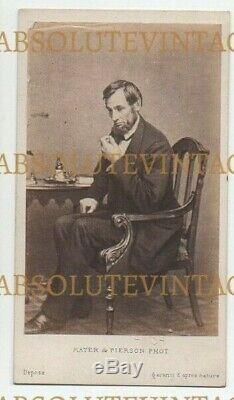 CDV Photo President Abraham Lincoln American CIVIL War Mayer & Pierson 1860s