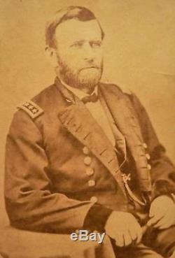 CDV Photo of Civil War General & President Ulysses S. Grant by Ward & Son Boston