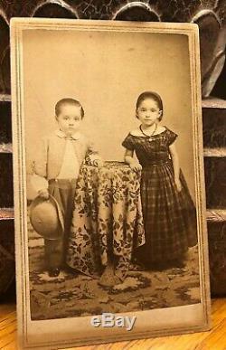 CDV Photograph Taken By African Pioneer Photographer JP Ball Civil War Children