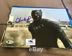 CHADWICK BOSEMAN AUTOGRAPH SIGNED 8x10 PHOTO BLACK PANTHER CIVIL WAR BECKETT
