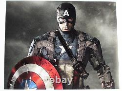 CHRIS EVANS SIGNED 11x14 PHOTO (CAPTAIN AMERICA CIVIL WAR) DC/COA PROOF
