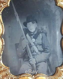 CIVIL WAR AMBROTYPE OHIO volunteer sharpshooter
