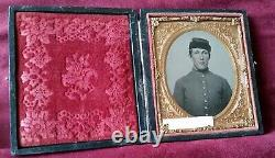 CIVIL WAR AMBROTYPE SOLDIER I. D. J. W. HAYDEN 7th NEW HAMPSHIRE INFANTRY