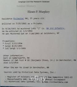 CIVIL WAR CDV I. D. H. P. MURPHEY 3rd NEW HAMPSHIRE INF