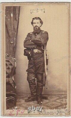 CIVIL WAR CDV SOLDIER/OFFICER withSWORD PENN-YAN, NEW YORK