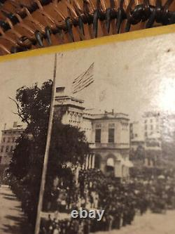 CIVIL WAR NY Cavalry 7th Regiment Militia 1860 STEREOVIEW Antique Photo with Stamp
