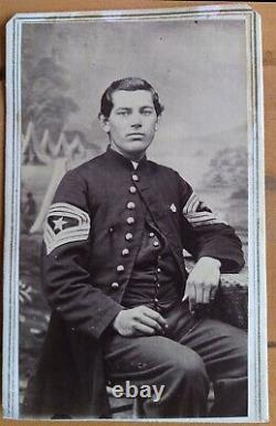 CIVIL WAR OFFICER Sergeant Major Ward in Uniform 144th infantry CDV