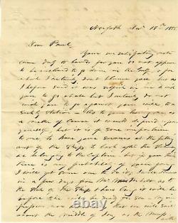 CIVIL WAR US NAVY ADMIRAL David Farragut autograph letter signed & mounted