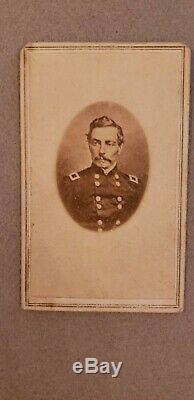 CIVIL War CDV Confederate General Pgt Beauregard Nashville, Tn. Backmark