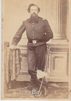 CIVIL War CDV Soldier 1st Rhode Island Cavalry